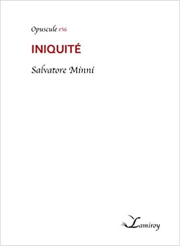 Read more about the article Chroniques 2020  Iniquité de Salvatore Minni