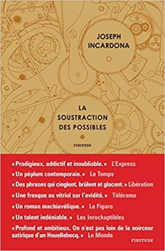 Read more about the article Chroniques 2020  La soustraction des possibles de Joseph Incardona